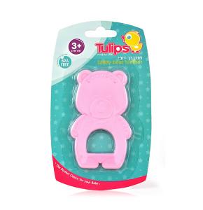 טוליפס נשכן סיליקון רך לתינוק   TULIPS TEETHER