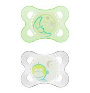 מוצץ זוהר בחושך לגילאי 0-6 חודשים מאמ