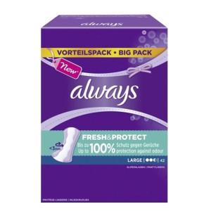 אולוויז מגן תחתון לארג' עם ניחוח Always Large Fresh&Protect Pantyliners