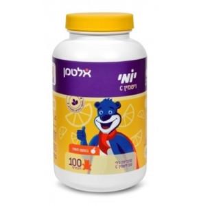 יומי ויטמין C לילדים 100 דובונים בטעם תפוז