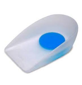 עקב סיליקון עם נקודה כחולה + תומך Silicone Heel Cups EUNICE MED