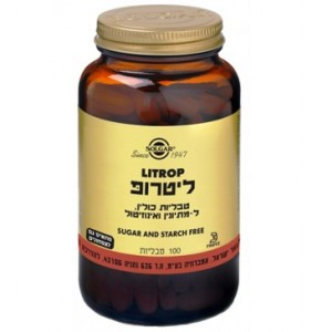 ליטרופּ 100 טבליות (LITROP (Lipotropic Factors סולגאר