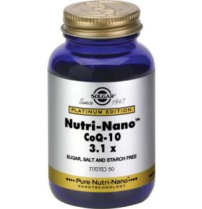 נוטרי נאנו קו אנזים Q10 SOLGAR Nutri Nano 3.1X CoQ-10 סולגאר