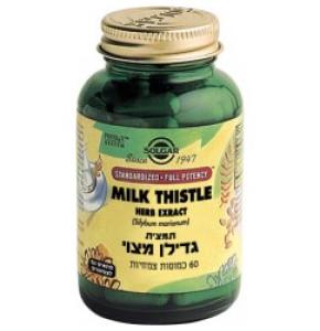 תמצית גדילן מצוי 60 כמוסות SOLGAR Milk Thistle Extract סולגאר
