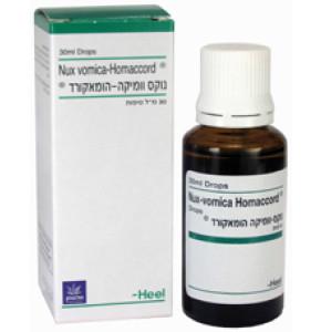 נוקס וומיקה הומאקורד הומיאופתיה | Nux Vomica Homaccord