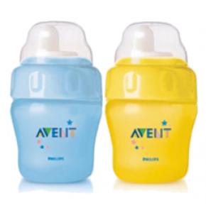 בקבוק לא-נשפך עם פיה רכה ללגימה קלה Non-Spill Easy-Sip Magic Cup +6M אוונט AVENT
