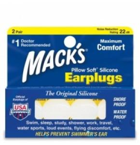 אטמי אוזניים למבוגרים Macks  Earplugs