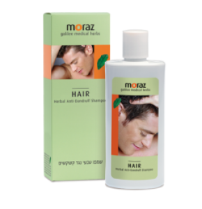 """שמפו טבעי נגד קשקשים עם תמציות צמחים 500 מ""""ל Moraz Herbal Anti-Dandruff Shampoo מורז"""