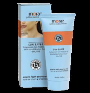 קרם טבעי להגנה מהשמש ושיקום העור Sun Saver Polygonum Spf 15 מורז MORAZ