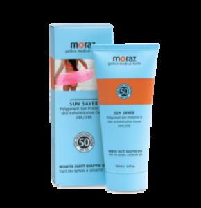 קרם טבעי להגנה מהשמש ושיקום העור לעור בהיר מאוד Sun Saver Polygonum Spf 50 מורז MORAZ