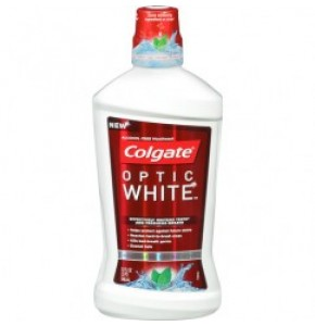 קולגייט אופטיק ווייט שטיפת פה לשיניים לבנות Optic White Mouthwash