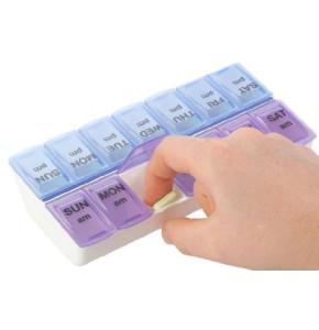 קופסא שבועית לארגון תרופות פעמיים ביום אפקס | APEX Weekly Twice-a-Day Pill Organizer