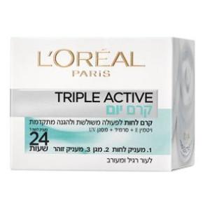 קרם לחות ליום לעור רגיל עד מעורב עם הפעולה המשולשת | L'Oreal Triple Active לוריאל טריפל אקטיב