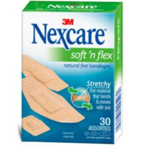 נקסקר פלסטרים סופט אנד פלקס רכים וגמישים במגוון גדלים | Nexcare Soft 'n Flex