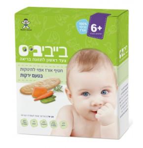 בייביביס חטיף אורז אפוי לתינוקות- בטעם ירקות