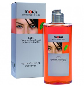מי פנים פוליגונום לעור רגיל עד שמן MORAZ Face Polygonum Tonic Cleanser מורז