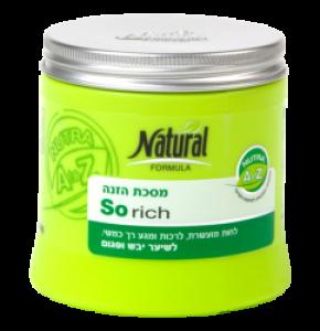 נטורל פורמולה מסכת הזנה לשיער יבש ופגום Natural Formula So Rich