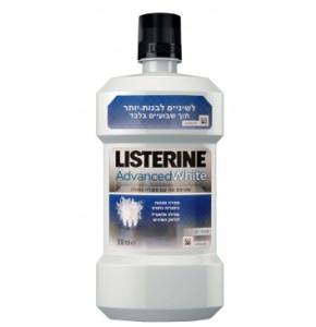 """מי פה להלבנה מתקדמת ליסטרין אריזת חיסכון 750 מ""""ל LISTERINE Advanced White"""