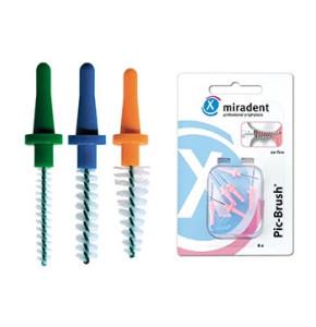 מירדנט מברשת ספירילית אינטרדנטלית בין השיניים 6 מברשות | Miradent InterDental Brush Pic-Brush