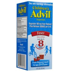 אדוויל ילדים סירופ להורדת חום בטעם פירות