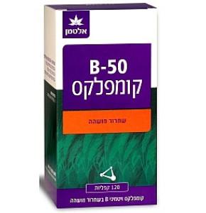 ויטמין B-50 קומפלקס 120 קפליות בשחרור מושהה אלטמן