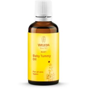שמן לעיסוי התינוק במיוחד באזור הבטן Baby Belly Therapy Oil Weleda וולדה