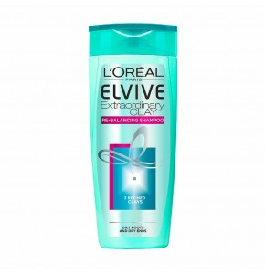 שמפו מרענן לניקוי יסודי לשיער שמן | L'Oreal Elvive Extraordinary Clay לוריאל אלביב