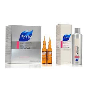 פיטוציאן אמפולות לשיער דליל לנשים + שמפו לשיער   PHYTO PARIS PHYTOCYANE Ampules + Shampoo