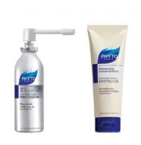 פיטוסטים ספריי + שמפו פיטוליאום לנשירת שיער בגברים מבית פיטו | Phytostim Spray + Phytoleum Shampoo