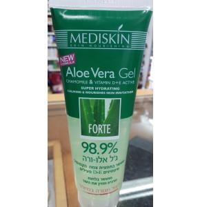 מדיסקין ג'ל אלוורה קרם מרוכז 98.9% להרגעת העור | MEDISKIN Aloe Vera Gel Cream