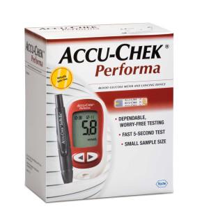 ACCU-CHEK PERFORMA מד סוכר למדידה מהירה ומדוייקת - ערכה המכילה מד סוכר ו-10 דוקרנים למדידה