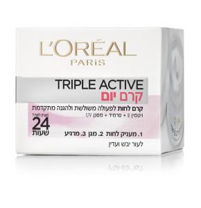 לוריאל פעולה משולשת קרם לחות לעור יבש ועדין L'Oreal Triple Active Day