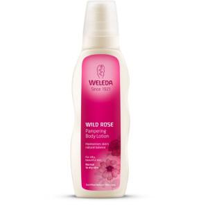"""תחליב גוף ורד הבר - להתחדשות העור - 200 מ""""ל של וולדה WELEDA"""