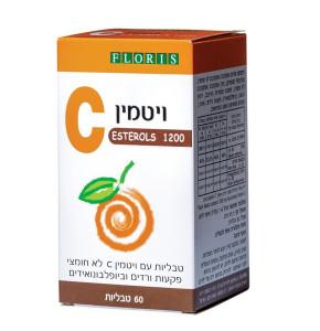 """פלוריש ויטמין סי לא חומצי 1200 מ""""ג אסטרול   Floris Vitamin C Esterols"""
