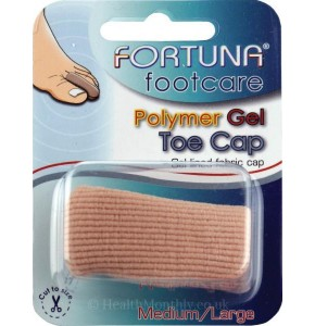 אצבעון ג'ל הגנה לבוהן הרגל | מגן אצבעות עם ריפוד בד | Fortuna Footcare