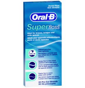 חוט דנטלי סופר פלוס אוראל בי Oral B SUPER FLOSS