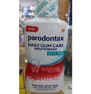 """PARODONTAX פרודונטקס שטיפת פה יומיומית ללא אלכוהול - 500 מ""""ל"""