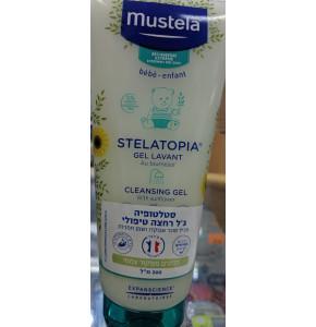 סטלטופיה קרם ג'ל רחצה טיפולי לעור מגורה מוסטלה | Mustela Stelatopia Cleansing Cream