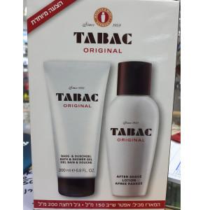 טבק אורגינל מארז אפטר שייב בתחליב וג'ל רחצה לגבר   TABAC After Shave Lotion