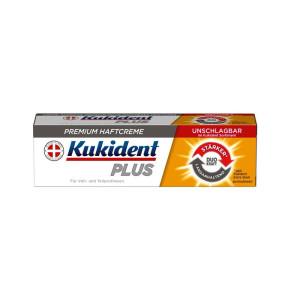 קוקידנט פלוס משחה להצמדת שיניים תותבות חזקה במיוחד Kukident PLUS