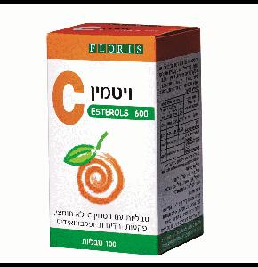 ויטמין סי לא חומצי אסטרול סי 600 מ''ג פלוריש