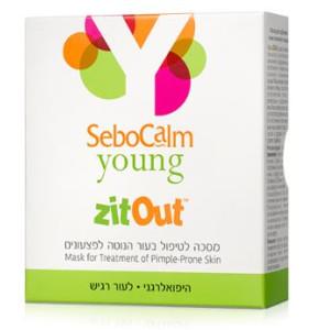 ZitOut זיט אאוט לטיפול בפצעונים SeboCalm Young סבוקלם יאנג