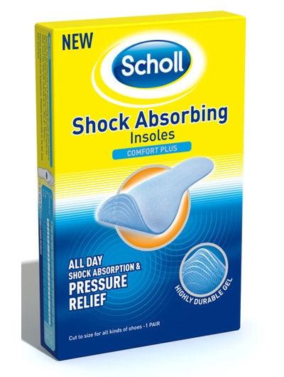 שול רפידות נוחות בולמות זעזועים | Scholl Shock Absorbing Insoles