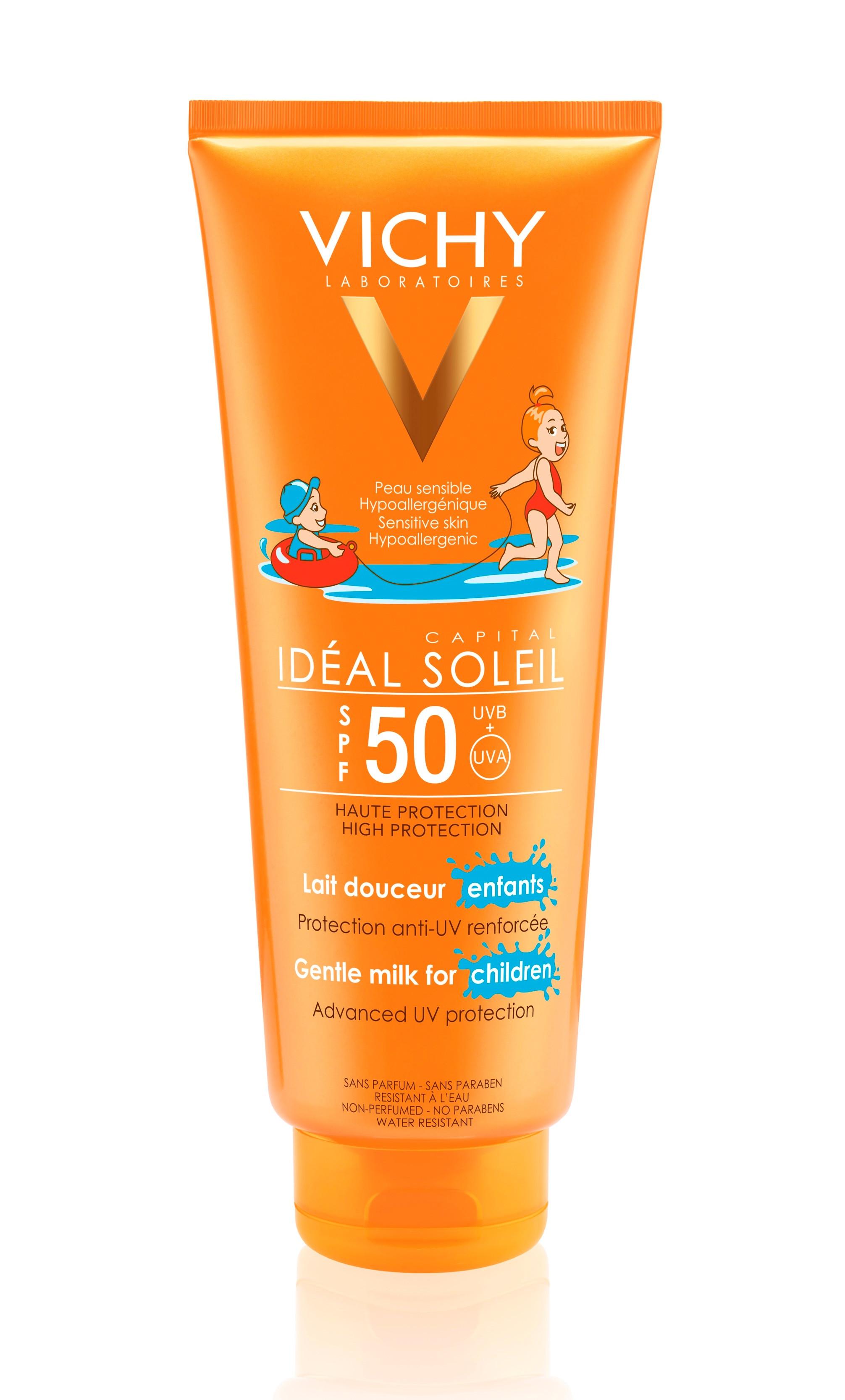 תחליב הגנה מהשמש SPF50 | במיוחד לילדים לפנים ולגוף | VICHY Capital Soleil Milk For Children