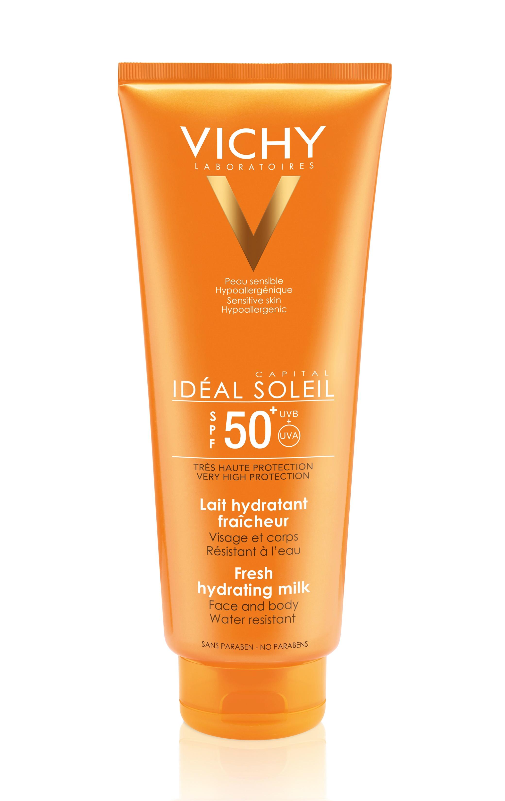 קפיטל סוליי תחליב הגנה מהשמש לגוף ולפנים במארז חסכון VICHY Ideal Capital Soleil SPF50