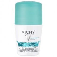 דאודורנט ירוק ללא סימנים לבנים Vichy Anti-trace Deodorant וישי רול און