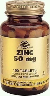 """אבץ 50 מ""""ג מינון מוגבר 100 טבליות SOLGAR ZINC סולגאר"""