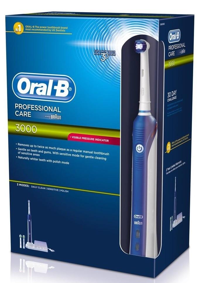 אוראל בי 3000 מברשת שיניים חשמלית | Oral B Professional care 3000 D20