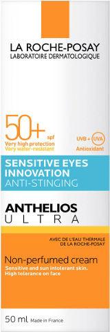 אנתליוס אולטרה קרם הגנה לשמש לעור הפנים Anthelios ULTRA Facial Cream SPF50 לה רוש פוזה LA ROCHE POSAY