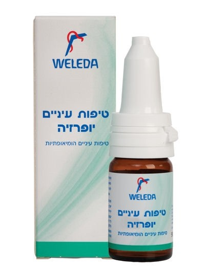 טיפות עיניים הומאופטיות יופרזיה של וולדה WELEDA